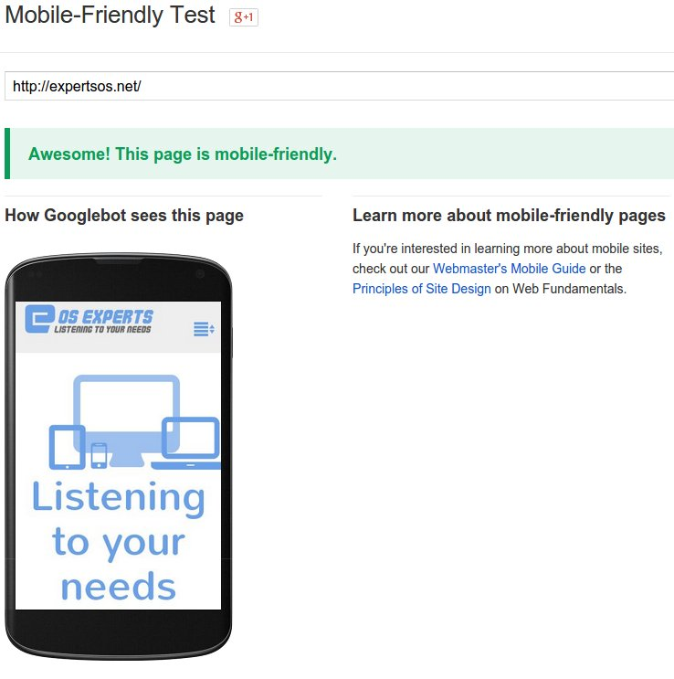 Google is your site ombile friendly test